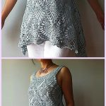 Crochet Pineapple Stitch Sleeveless Top for Ladies