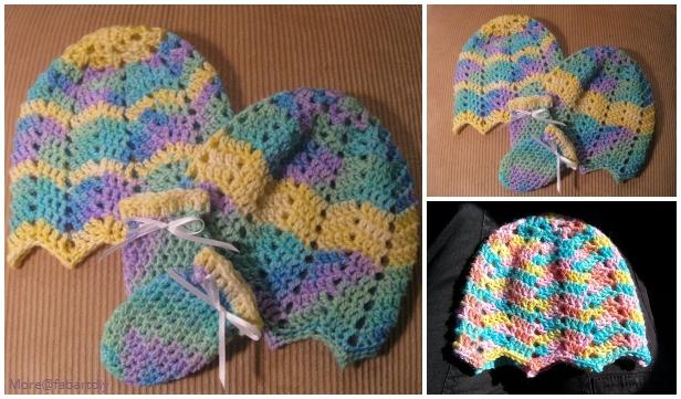 Baby Ripple Baby Beanie Hat Crochet Free Pattern