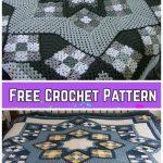 Blue Star Afghan Blanket Crochet Free Pattern