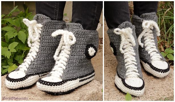 Cool Kicks Sneaker Slippers Crochet Free Pattern