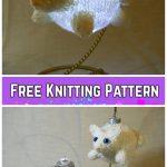 fabartdiy Knit Christmas Bear & Cat Bauble Ornament Free Knitting Patterns f3