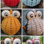 Lovely Crochet Owl Tea Cosies & Bag Crochet Pattern