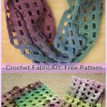 Windowpane Scarf Crochet Free Pattern