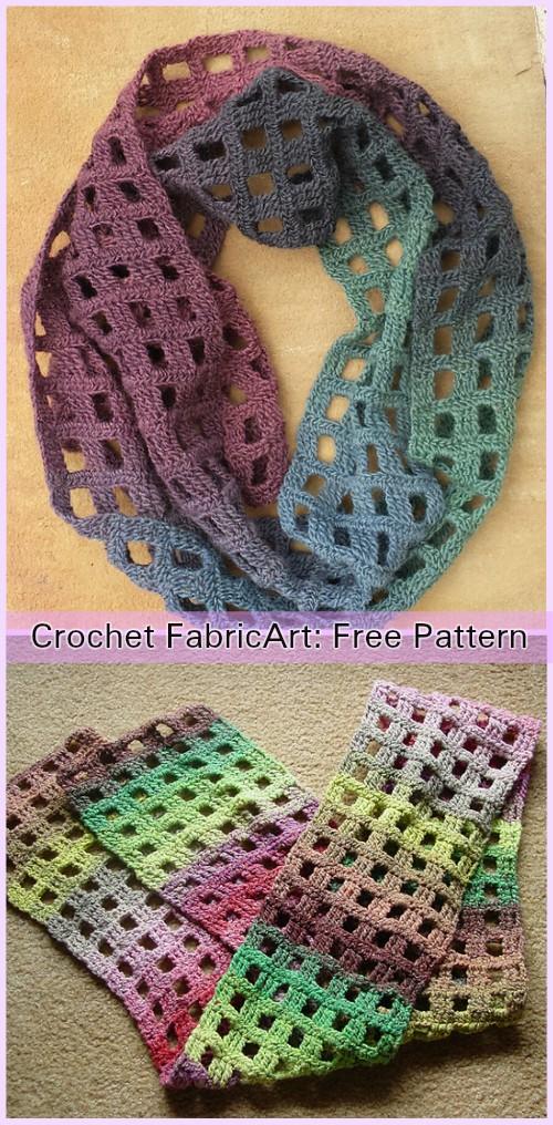 Windowpane Scarf Crochet Free Pattern