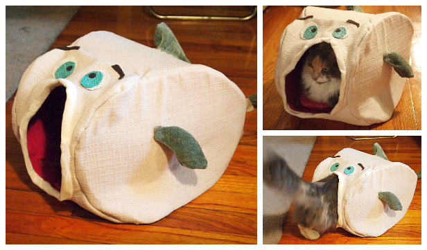 DIY Fish Cat House Sew Free Pattern & Tutorial