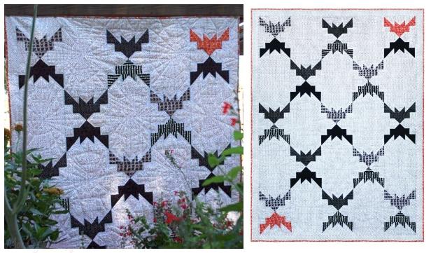 DIY Gone Batty Quilt Free Sew Pattern & Tutorial