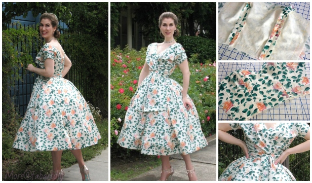DIY Dior-Inspired Vintage Dress Free Sewing Pattern