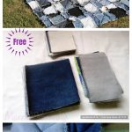 Simple Denim Blanket Patchwork DIY Tutorial