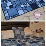 Denim Rag Quilt DIY Tutorial from recycled jeans