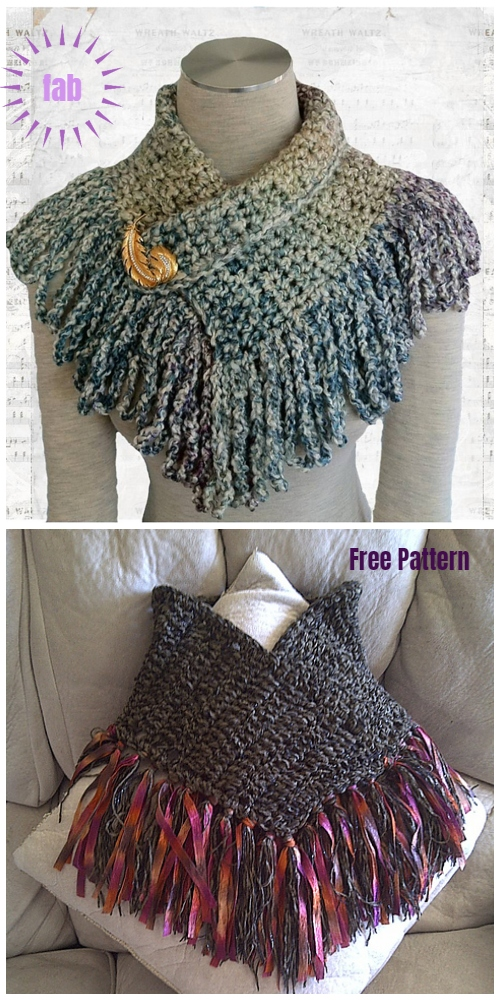 Super Easy Scarflette Crochet Free Pattern