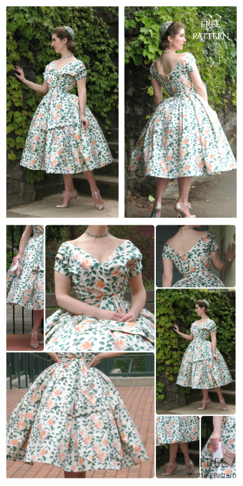 DIY Dior-Inspired Vintage Dress Free Sewing Pattern & Tutorial