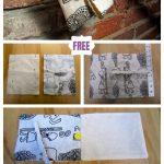 DIY Simple Foldover Clutch Sew Free Pattern