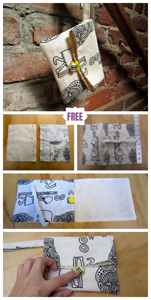 DIY Simple Foldover Clutch Sew Free Pattern