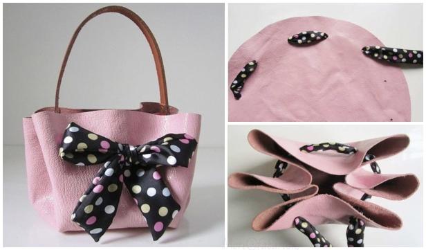 No-Sew Leather Bag DIY Tutorial