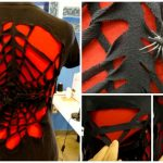 fabricartdiy No-Sew Spider Web T-shirt Refashion DIY Tutorial f