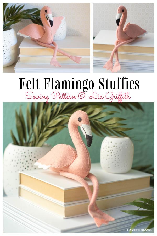 DIY Flossie Flamingo Animal Toy Sew Pattern & Tutorial