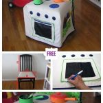 DIY Kids Play Kitchen Slipcover Free Sewing Pattern & Tutorial