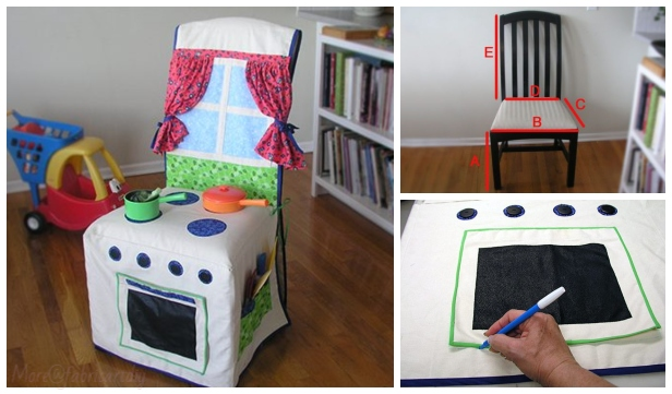 DIY Kids Play Kitchen Slipcover Free Sewing Pattern & Tutorial