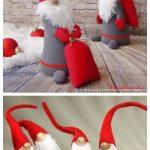 DIY Christms Felt Gnome Sew Free Pattern & Tutorial