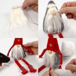 DIY Christms Felt Gnome Sew Free Pattern & Tutorial