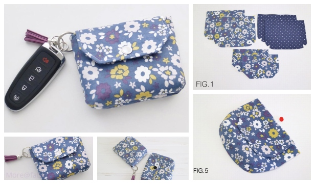 DIY Flappy Coin Purse Free Sewing Pattern & Tutorial