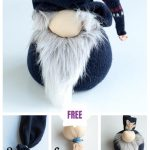 DIY Christmas Sock Gnome Doll Sew Pattern & Tutorial