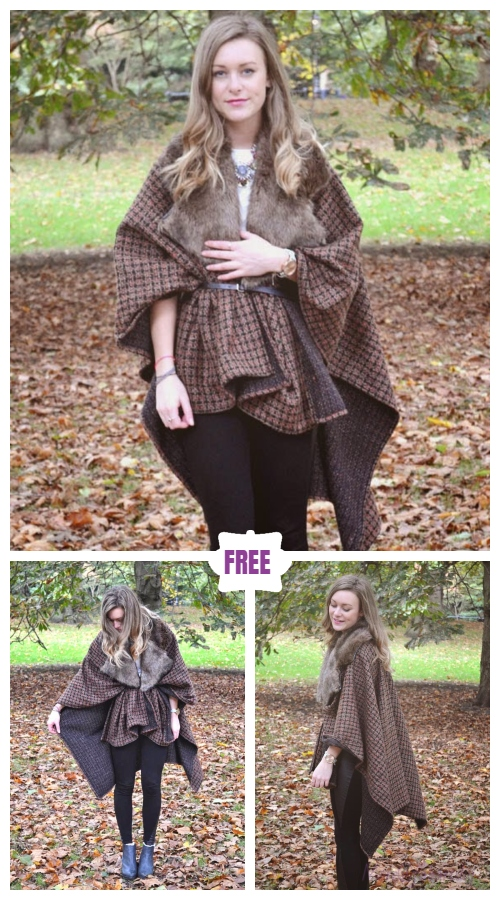Easy Handmade Blanket Coat Free Sewing Pattern & Tutorial