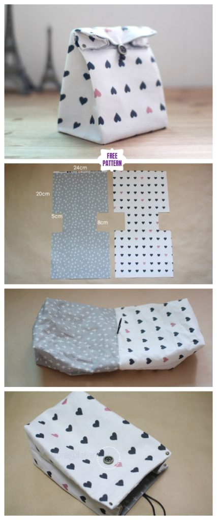 DIY Classic Fabric Gift Bag Free Sew Pattern & Tutorial