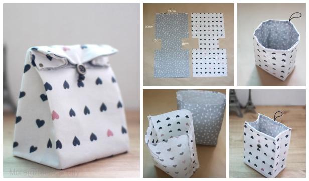 DIY Classic Fabric Gift Bag Free Sew Pattern & Tutorial