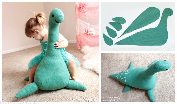 DIY Giant Monster Toy Free Sewing Pattern & Tutorial