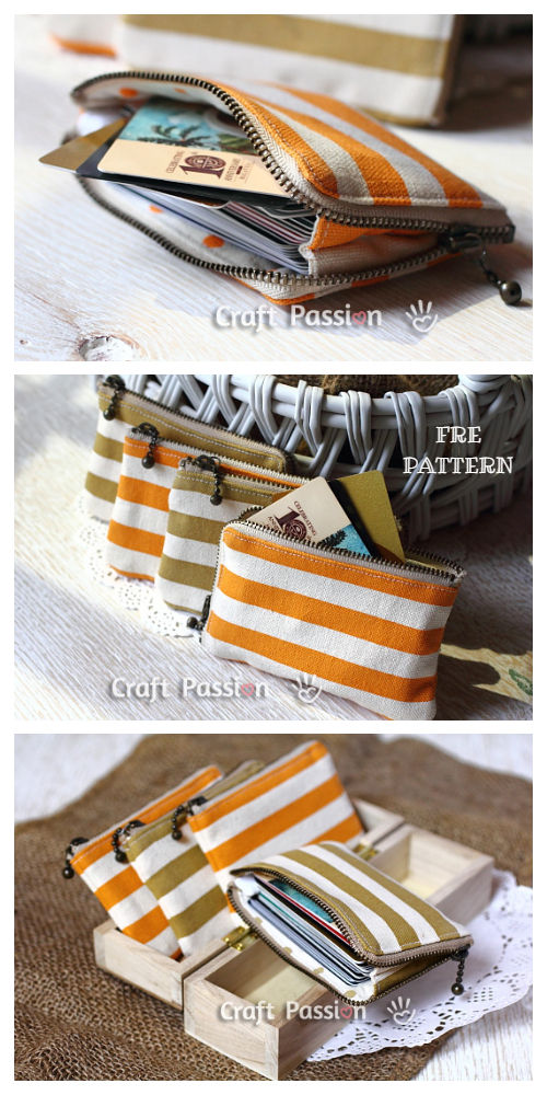 DIY Zipper Card Pouch Free Sewing Pattern & Tutorial
