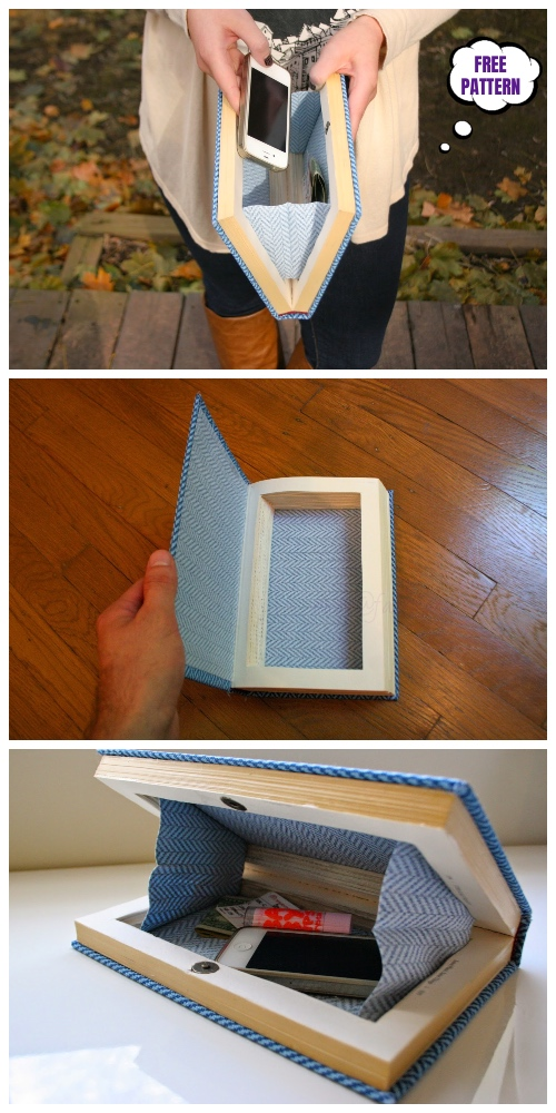 DIY Book Clutch Free Sew Patterns & Tutorials