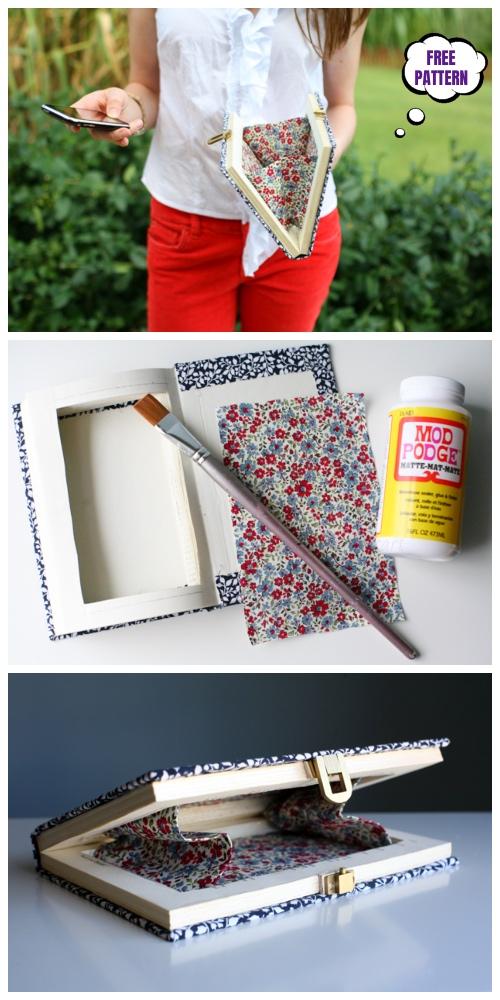 DIY Book Clutch Free Sew Patterns & Tutorials