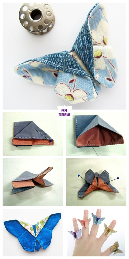 DIY Origami Fabric Butterfly Free Sewing Pattern & Tutorial