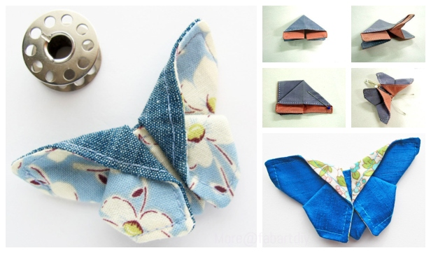 DIY Origami Fabric Butterfly Sew Pattern & Tutorial