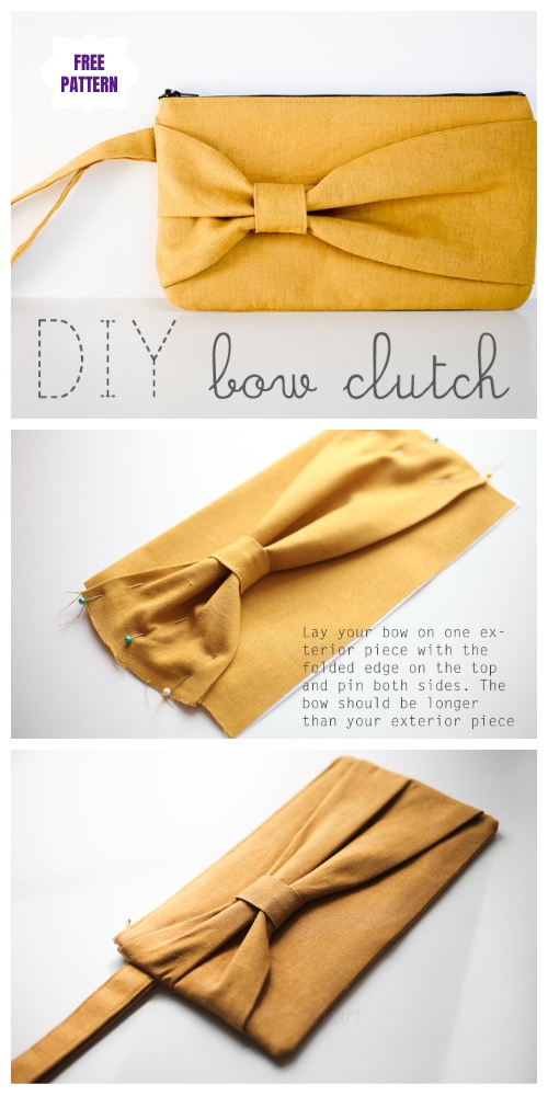 DIY Bow Clutch Free Sewing Patterns & Tutorials
