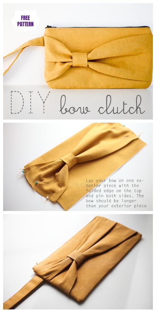 DIY Bow Clutch Free Sewing Patterns & Tutorials