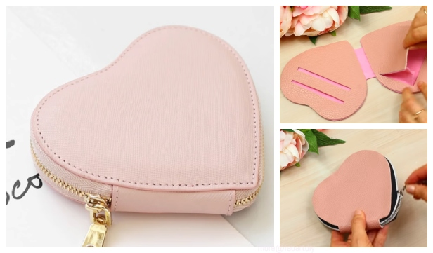 DIY No Sew Leather Heart Purse Tutorial - Video