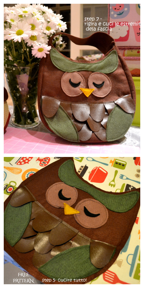 DIY Owl Carry It Bag Free Sewing Pattern and Tutorial