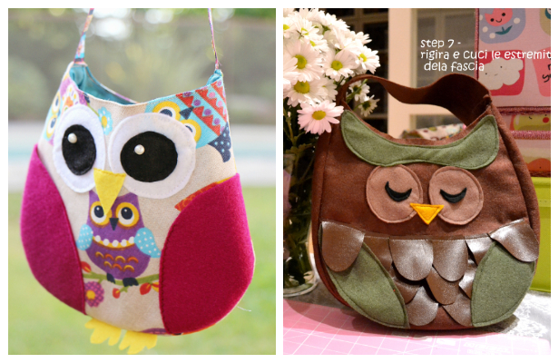 DIY Fabric Owl Bag Free Sewing Patterns & Tutorials
