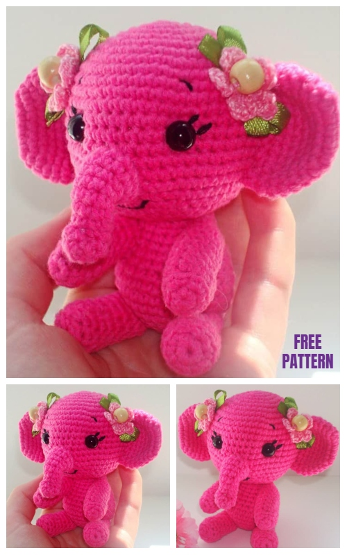 Crochet Elephant Softie and More Free Patterns Tutorials | 800x500