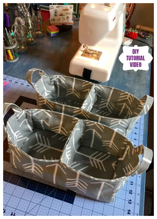 DIY Divided Organizer Caddy Free Sew Pattern - Video
