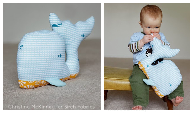 DIY Fabric Whale Plush Free Sewing Patterns & Paid