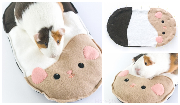DIY Guinea Pig Cushion Free Sew Pattern & Tutorial