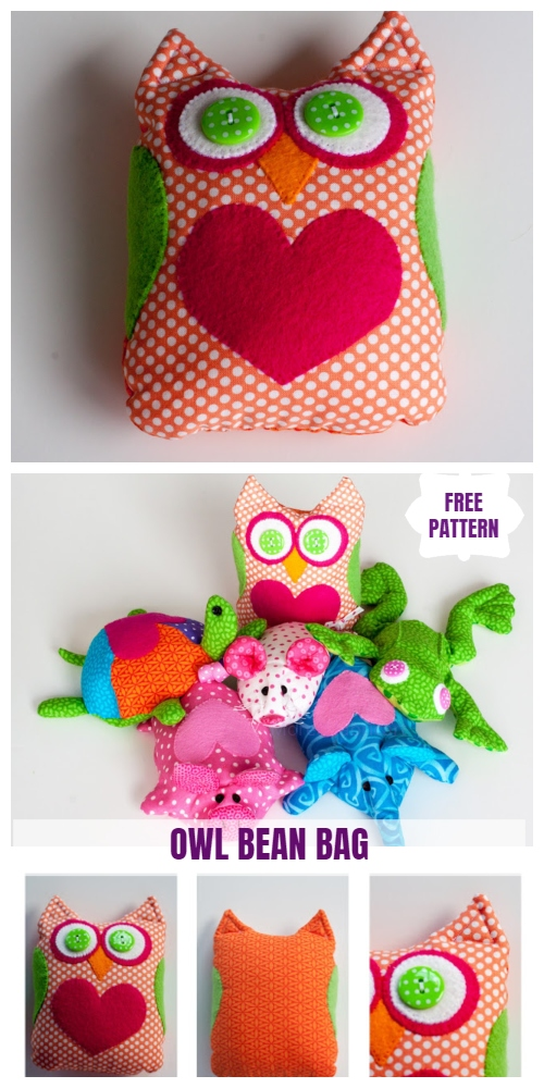 DIY Owl Bean Bag Free Sew Pattern & Tutorial