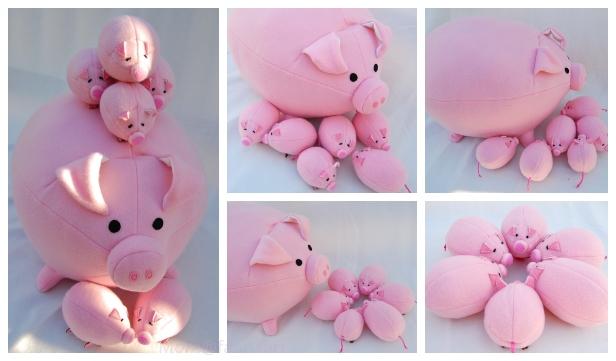 DIY Plush Pig Free Sew Pattern & Tutorial