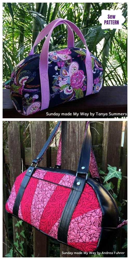 DIY Sunday My Way Bag Free Sew Pattern & Tutorial