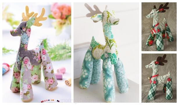 DIY Tilda Reindeer Free Sew Pattern & Tutorial
