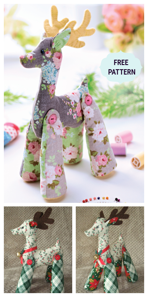 DIY Tilda Reindeer Free Sewing Patterns & Tutorials