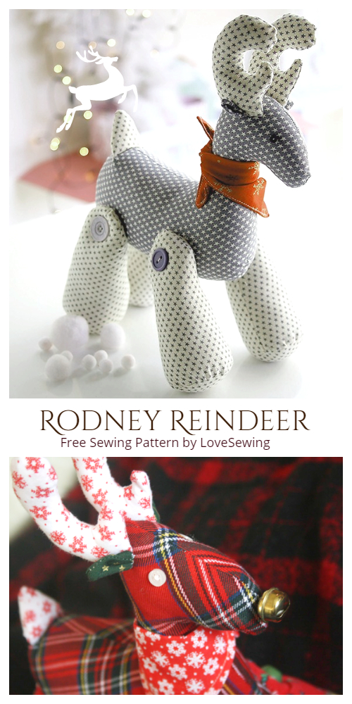 DIY Rodney Reindeer Free Sewing Patterns & Tutorials